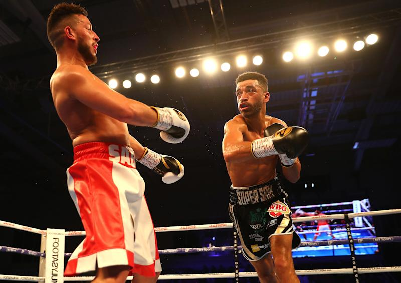 Sabri Sediri lost by TKO in the final seconds of the 10th round after obviously taunting his opponent Sam Maxwell, the eventual winner. (Photo by Matthew Lewis/Getty Images)