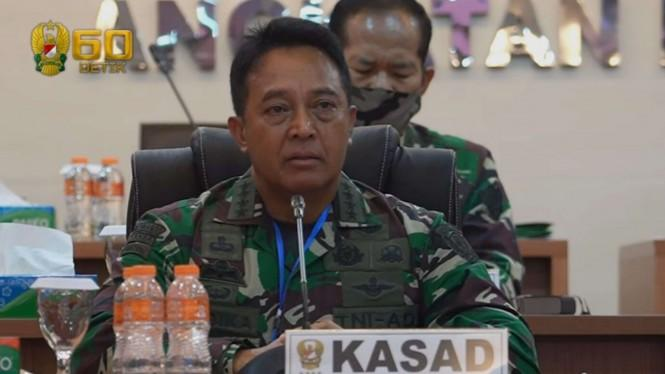 Kasad Pantau Kondisi Praka Hasan Basri Anggota TNI yang Positif Corona