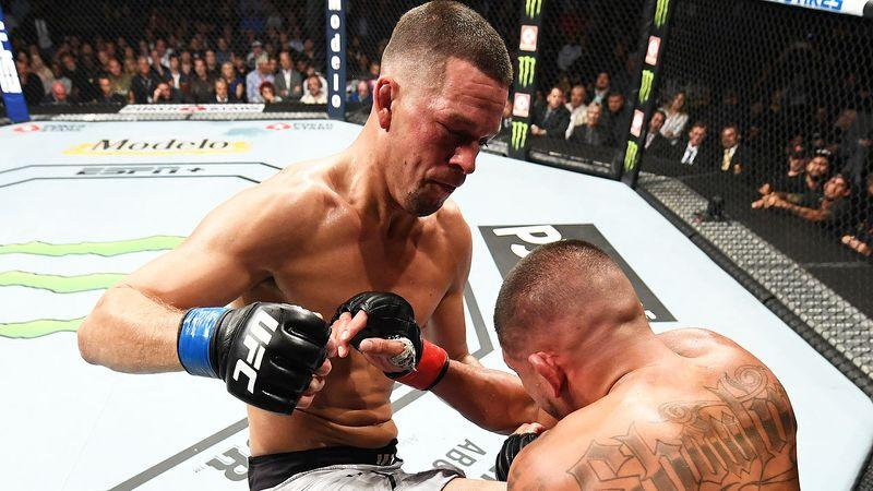 Nate Diaz beat Anthony Pettis in his UFC comeback bout.