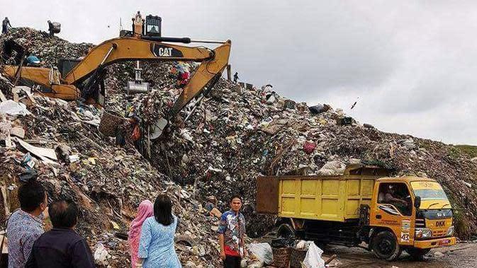 Salah satu lokasi Tempat Pembuangan Akhir (TPA) sampah di Kota Palembang Sumsel (Liputan6.com / Nefri Inge)