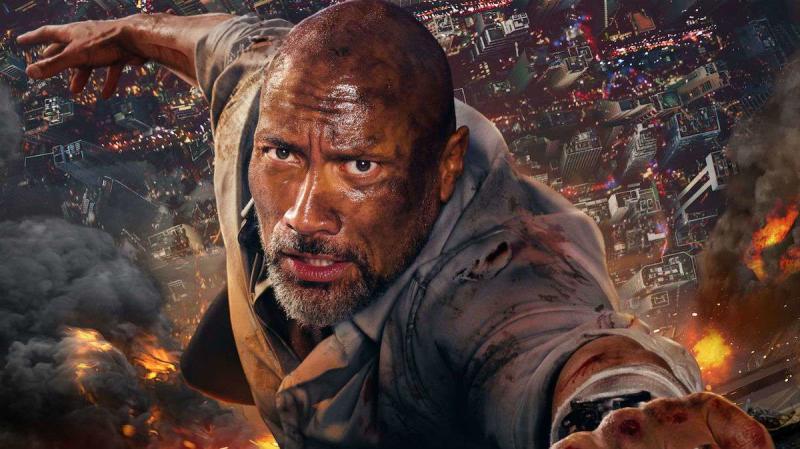 Dwayne Johnson in 'Skyscraper'. (Credit: Universal)