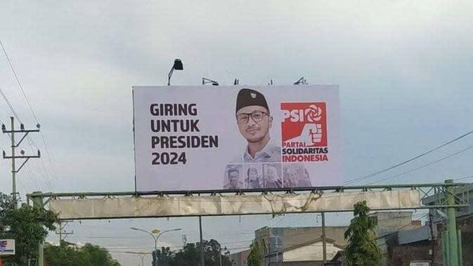Baliho Giring Nidji maju sebagai Calon Presiden 2024 (https://www.instagram.com/p/CD8xZ4qn6_g/)