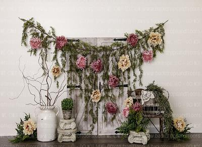 Chandelier Bohemian Elegant Roses Birthday Pearls Cake Smash Shabby Chic Pink Floral Paris Photography Backdrop Flowers Vintage