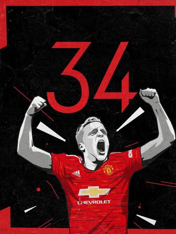 Gelandang anyar Manchester United (MU) Donny van de Beek. (foto: instagram.com/manchesterunited)
