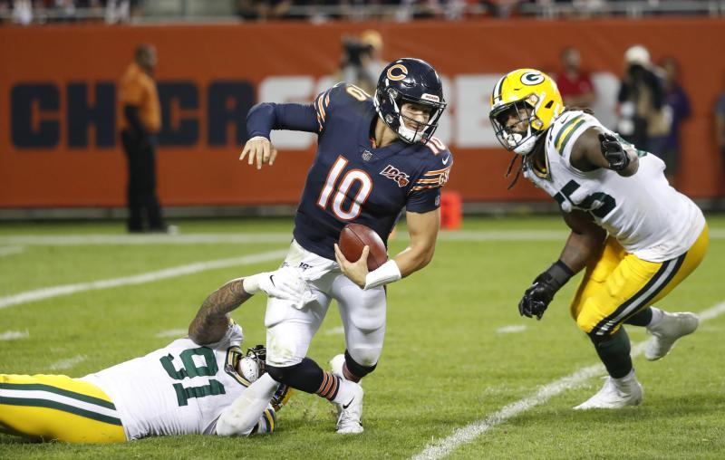 Mitchell Trubisky is off to a rough start this season. (AP)