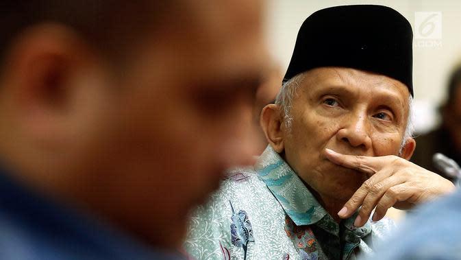Ketua Dewan Kehormatan Partai Amanat Nasional (PAN), Amien Rais. (Liputan6.com / Johan Tallo)