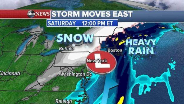 Flood Watches were in place along the East Coast on Thursday. (ABC News)