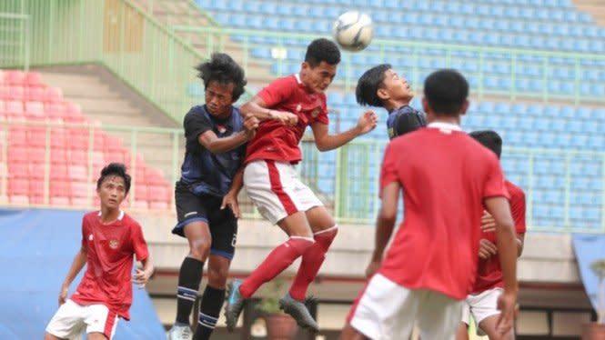 Laga Uji Coba, Timnas Indonesia U-16 Pesta Gol
