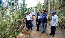 林明溱會勘水里、信義十一處農水路改善工程