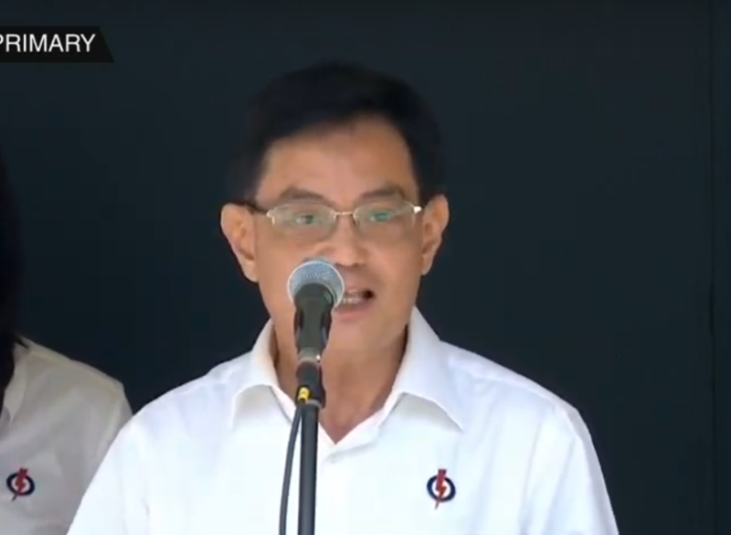 Deputy Prime Minister and Finance Minister Heng Swee Keat speaking after confirmation as an East Coast GRC candidate on Nomination Day on 30 June 2020. (SCREENSHOT: CNA/YouTube)