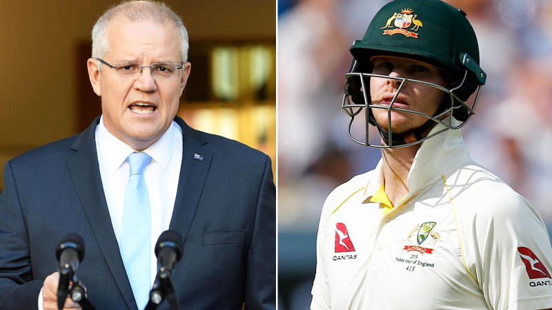 Scott Morrison, pictured here, has condemned the treatment of Steve Smith. Image: Getty