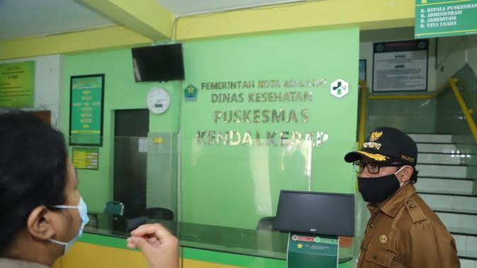 Walikota Malang, Sutiaji saat mendatangi Puskesmas Gribig, Malang