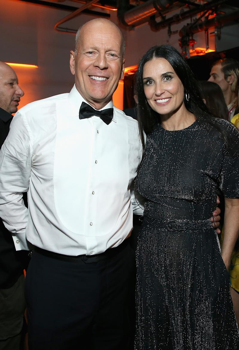 Bruce Willis and Demi Moore pictured at the after party for the Comedy Central Roast of Bruce Willis in July 2018. (Getty Images)