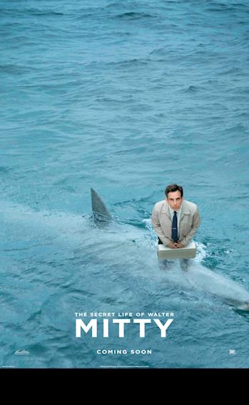 The Secret Life of Walter Mitty Shark Poster