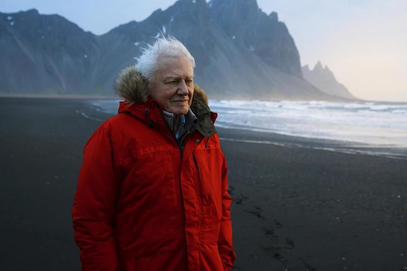 David Attenborough in Iceland ahead A Life On Our Planet's release (AP/BBC America )