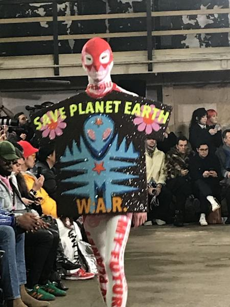 The 2020 fall-winter show by Walter Van Beirendonck at the Paris Men's Fashion Week