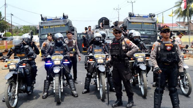 Kepolisian Daerah Bengkulu terus melakukan patroli dan penertiban di jalanan selama bulan suci Ramadan 1441 Hijriah. (Liputan6.com/Yuliardi Hardjo)