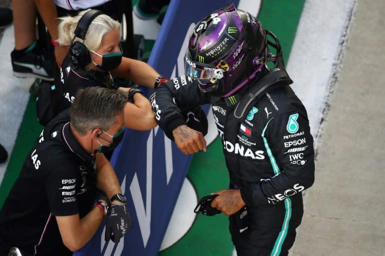 Hamilton on Russian pole after 'horrible' qualifying, Verstappen splits Mercedes pair