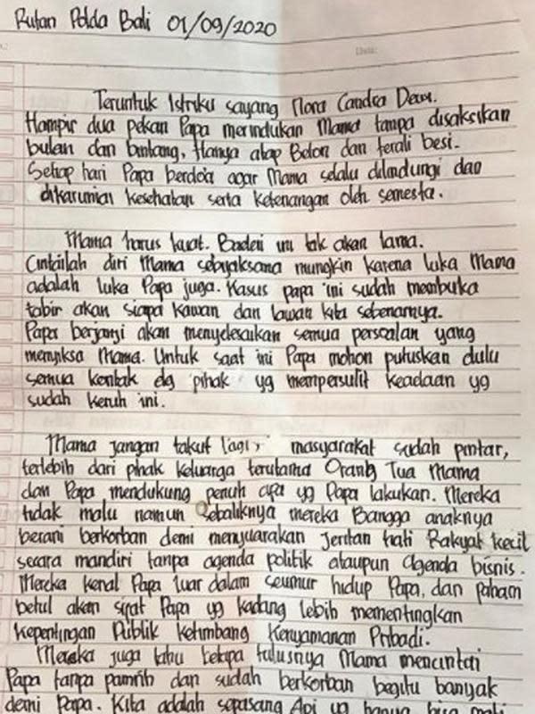 Tulisan tangan Jerinx