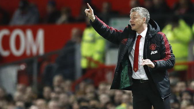 Manajer Manchester United, Ole Gunnar Solskjaer. (AP/Martin Rickett)
