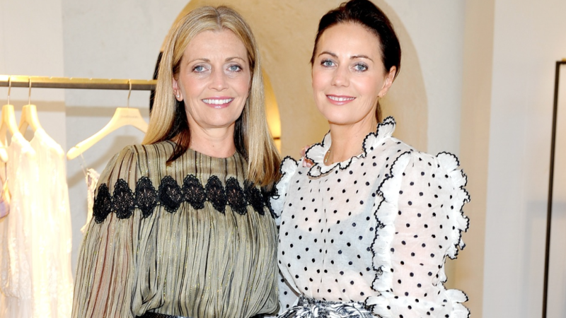 Sisters Simone and Nicky Zimmermann are the co-founders of the Australian fashion label, Zimmermann. (Image via Getty Images)