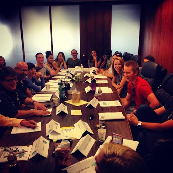 Table read #100… The last one… Good Luck Charlie and goodbye…