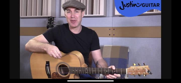 Justin Guitar video lesson