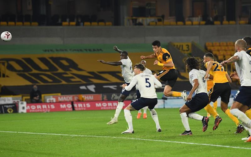 Wolverhampton Wanderers' Raul Jimenez scores - Pool via REUTERS/Stu Forster