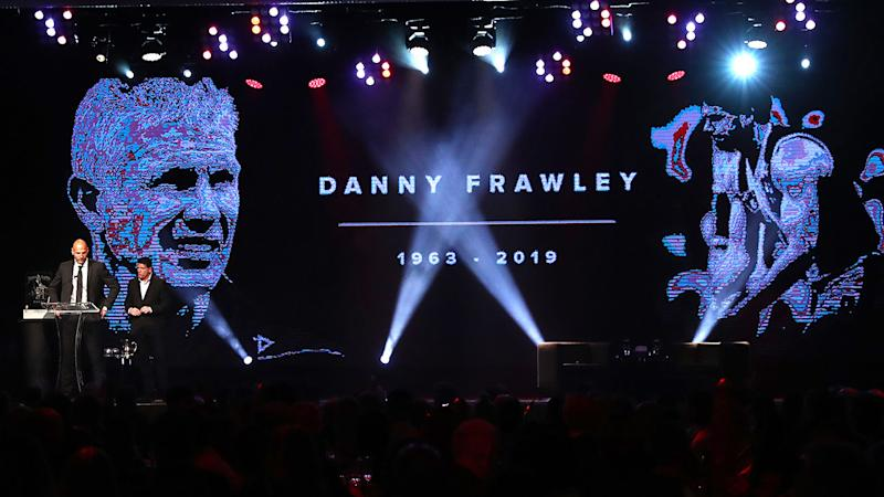 Danny Frawley tributes, pictured here during the St Kilda best and fairest night.