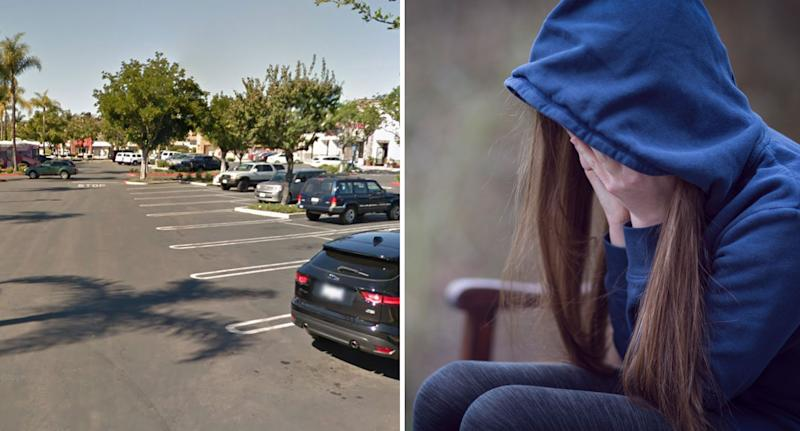 Car park in San Diego where teen met old man to expose him, but ended up being kidnapped.