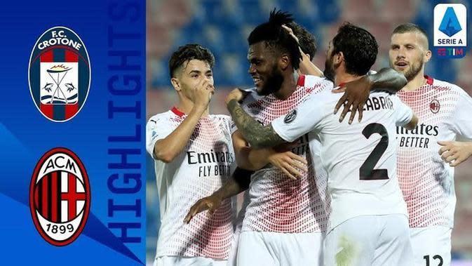 VIDEO: Highlights Liga Italia, AC Milan Raih Kemenangan Walaupun Zlatan Ibrahimovic Absen
