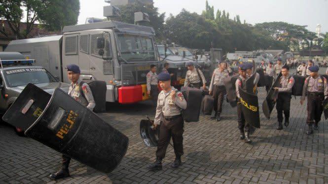 Demo Gelombang Kedua UU Ciptaker, 7.500 Brimob Siaga di Jakarta