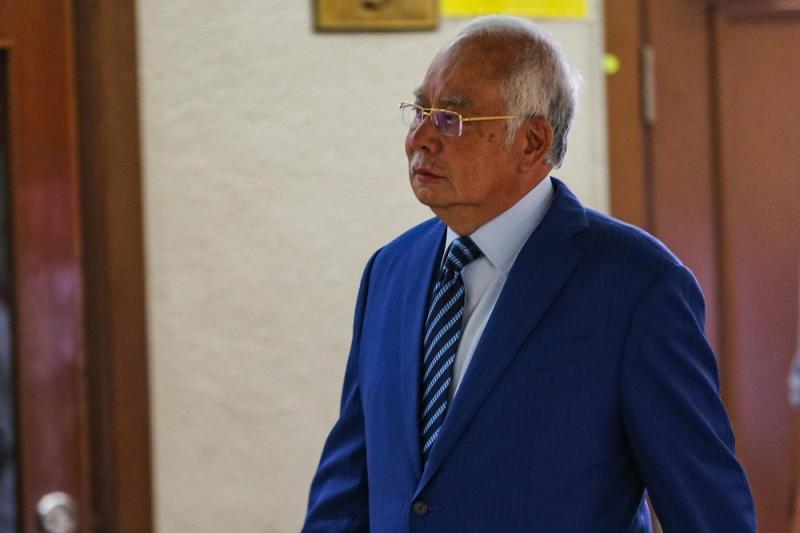Former prime minister Datuk Seri Najib Razak at the Kuala Lumpur Court Complex February 4, 2020. — Picture by Hari Anggara