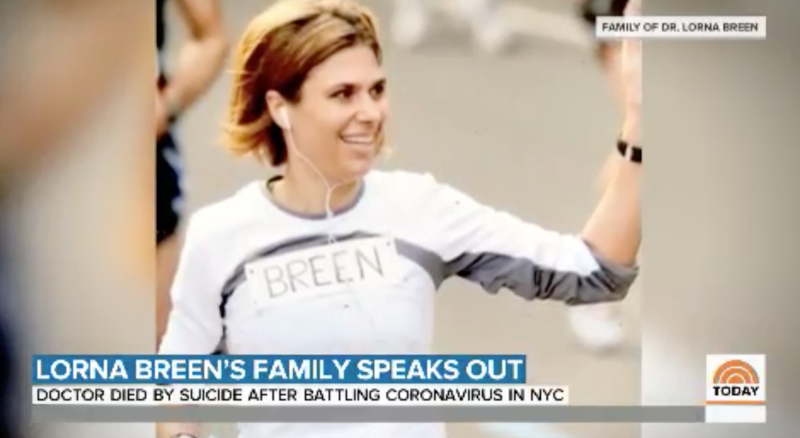 Breen was only 49-year-old when she died by suicide after experiencing severe mental distress. (Image via TODAY/Courtesy of the Breen Family).