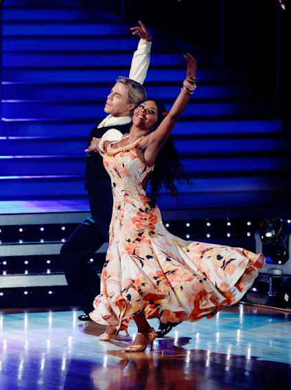 """Lil' Kim and Derek Hough perform the Waltz to """"When I Need You"""" by Leo Sayer on """"Dancing with the Stars."""""""