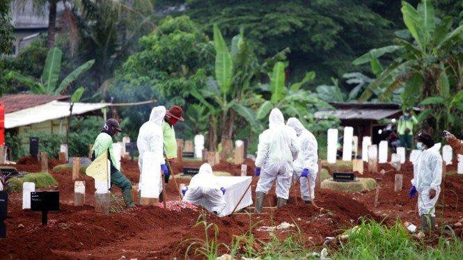 Hampir Penuh, TPU Tegal Alur Kembali Buka Blok Pemakaman COVID-19