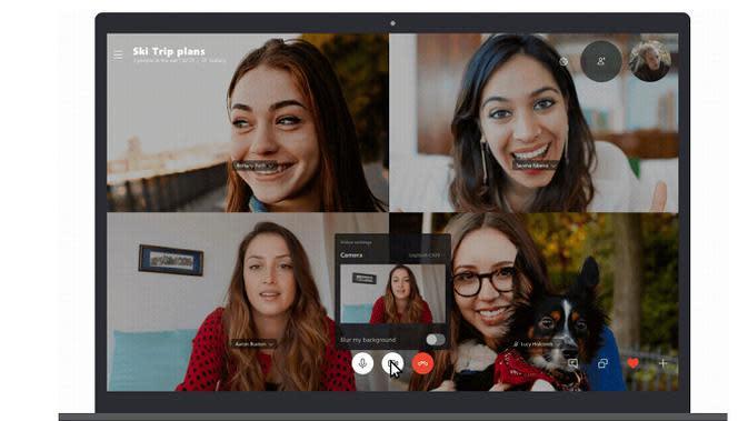 Kini, pengguna Skype bisa membuat latar belakang menjadi buram (sumber: Microsoft)