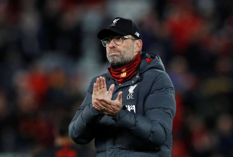 No contest between society's well-being and football - Klopp