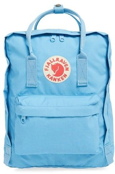 "<p>Get up on the pastel trend with this pale blue <a href=""https://www.popsugar.com/buy/Fjallraven-Kanken-Water-Resistant-Backpack-214249?p_name=Fjallraven%20Kanken%20Water-Resistant%20Backpack&retailer=shop.nordstrom.com&pid=214249&price=80&evar1=moms%3Aus&evar9=24254691&evar98=https%3A%2F%2Fwww.popsugar.com%2Ffamily%2Fphoto-gallery%2F24254691%2Fimage%2F45117845%2FFjallraven-Kanken-Water-Resistant-Backpack&list1=shopping%2Cback%20to%20school%2Csummer%2Cbackpacks%2Csummer%20fashion%2Ckid%20shopping&prop13=api&pdata=1"" rel=""nofollow"" data-shoppable-link=""1"" target=""_blank"" class=""ga-track"" data-ga-category=""Related"" data-ga-label=""http://shop.nordstrom.com/S/3833666"" data-ga-action=""In-Line Links"">Fjallraven Kanken Water-Resistant Backpack</a> ($80). It's ideal for kids, as it's made with water-resistant fabric that can help protect from unexpected spills.</p>"