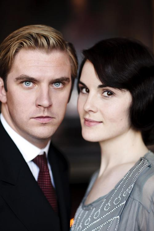 "This undated publicity photo provided by PBS shows Dan Stevens as Matthew Crawley, left, and Michelle Dockery as Lady Mary Crawley, from the TV series, ""Downton Abbey."" The third season premiere airs in the U.S. on Sunday, Jan. 6, 2013 on PBS. (AP Photo/PBS, Carnival Film & Television Limited 2012 for MASTERPIECE, Nick Briggs)"