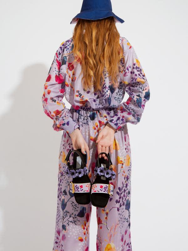 Spring Fling Long Sleeves Shirt x MADER Square Toe Slingback - Spring Fling