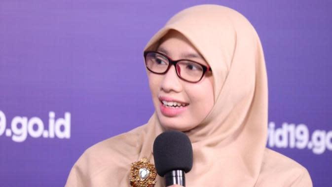 Tim Pakar Satgas COVID-19 Dewi Nur Aisyah menyatakan kasus positif COVID-19 di perkotaan lebih tinggi di angka nasional saat dialog di Graha BNPB, Jakarta, Rabu (26/8/2020). (Dok Tim Komunikasi Publik Satgas COVID-19)