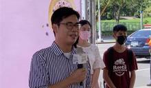 影》民眾反對美豬進高雄 高雄市議會場外抗議陳其邁