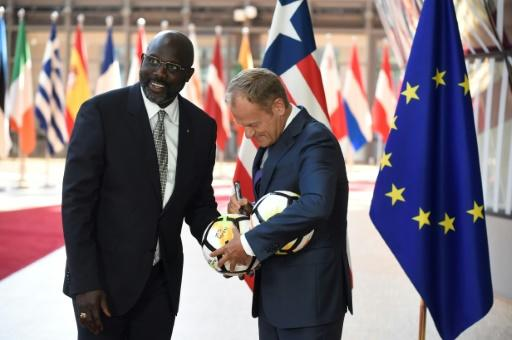 Desperately strapped for cash at home, Weah has turned to funding from abroad to help