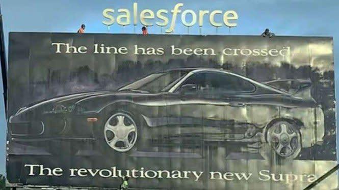 Heboh, Iklan Toyota Supra Terpasang 27 Tahun di Baleho Ini