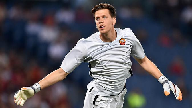Wojciech Szczesny, dipinjamkan ke AS Roma, kiper asal Polandia ini berhasil tampil apik, namun kemungkinan dirinya akan menolak kembali ke Arsenal jika hanya menjadi pelapis Petr Cech. (AFP/Alberto Pizzoli)