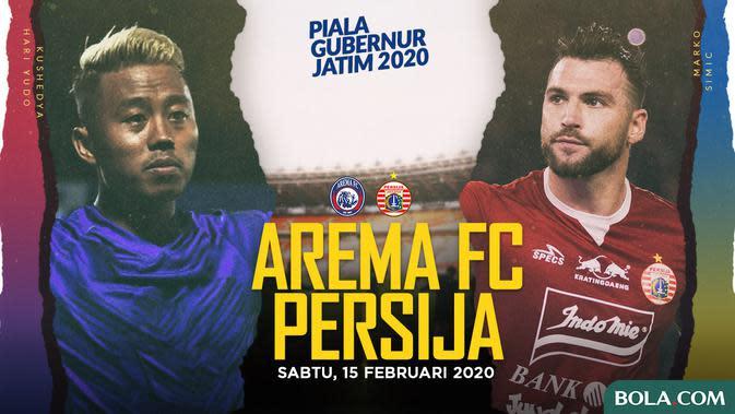 Piala Gubernur Jatim - Arema FC Vs Persija Jakarta - Head to Head Pemain (Bola.com/Adreanus Titus)