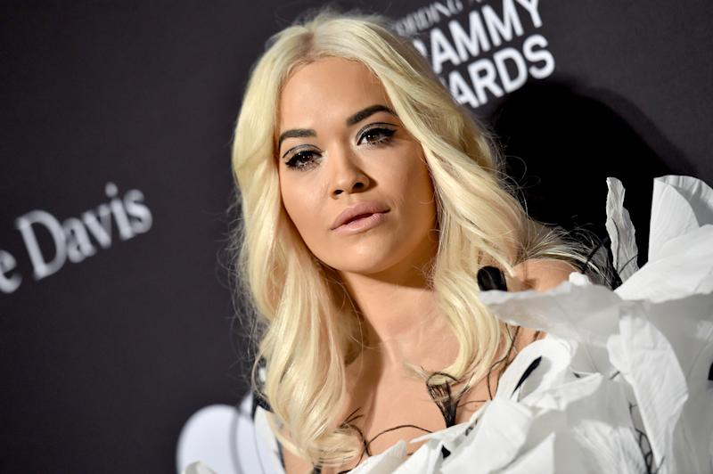 A photo of Rita Ora at The Recording Academy and Clive Davis' 2019 Pre-GRAMMY Gala at The Beverly Hilton Hotel on February 09, 2019 in Beverly Hills, California.