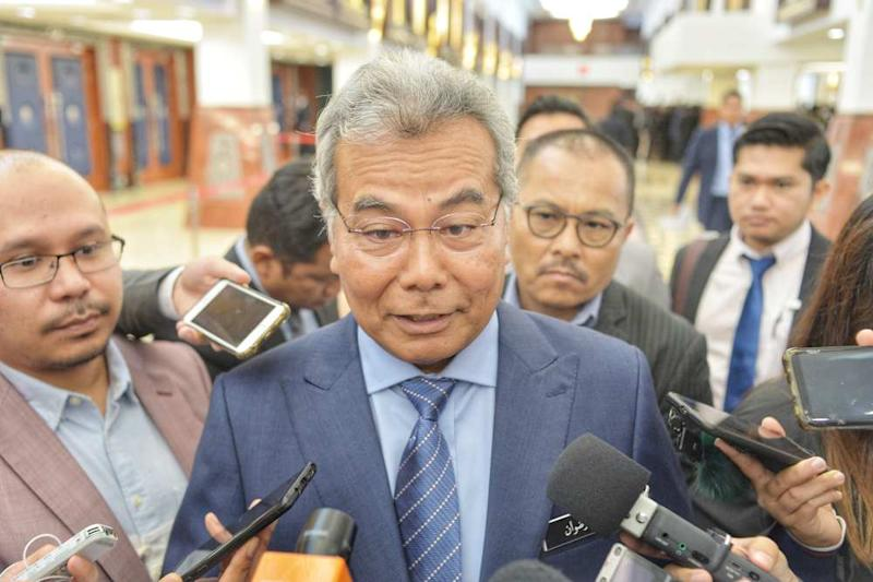 Entrepreneur Development Minister Datuk Seri Mohd Redzuan Md Yusof speaks to the media at the Parliament building in Kuala Lumpur November 20, 2019. ― Picture by Shafwan Zaidon