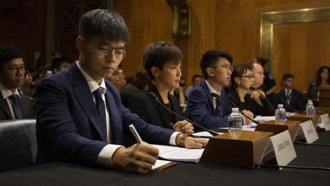 Aktivis Hong Kong Joshua Wong di Kongres AS (Alastair Pike / AP PHOTO)